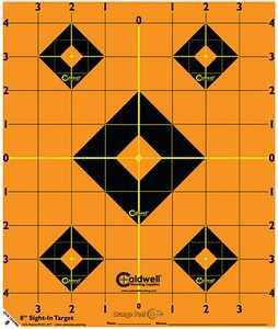 Caldwell 522357 Orange Peel Sight-In Target 8-Inch 5-Pack