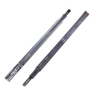 Hickory Hardware P1055/24-2C 24-Inch Cadmium Soft Close Full Extension Ball Bearing Side Mount Drawer Slide