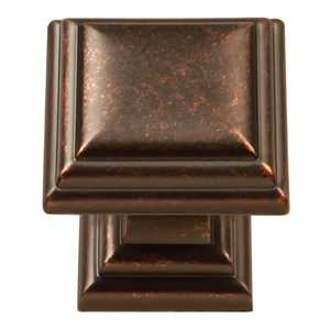 Hickory Hardware HH74554-DAC 1-1/8-Inch Dark Antique Copper Sommerset Square Cabinet Knob