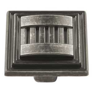 Hickory Hardware HH74670-BNV 1-5/16-Inch Black Nickel Vibed Sydney Square Cabinet Knob