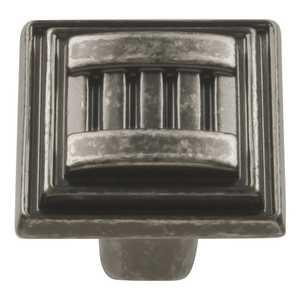 Hickory Hardware HH74679-BNV 1-1/16-Inch Black Nickel Vibed Sydney Square Cabinet Knob