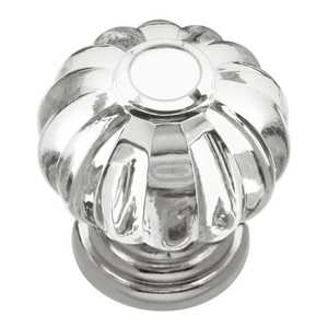 Hickory Hardware HH74688-CA14 1-3/16-Inch Bright Nickel Crystal Place Crysacrylic Cabinet Knob