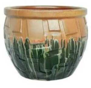 Michael Carr Designs 2725C 10-3/5-Inch Round Honey And Green Decorative Planter