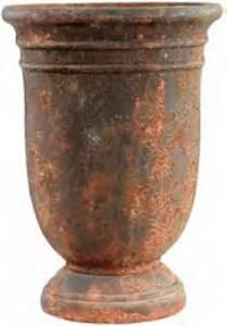 BFG Supply, LLC 200127RUST Michael Carr Designs Liconfiber Tall Urn Planter In Rust 14.6 in