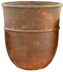 BFG Supply, LLC 100601BRUST Michael Carr Designs Liconfiber Tall Hourglass Planter In Rust 14 in