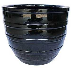 BFG Supply, LLC 2661B Michael Carr Designs Multi-Ring Planter In Glossy Black 14.6 in