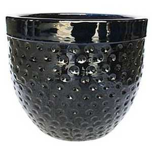 BFG Supply, LLC 2666A Michael Carr Designs Dimpled Planter In Glossy Black 19.3 in
