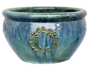 BFG Supply, LLC 1071-3B Michael Carr Designs Garland Planter In Ultramarine 14 in