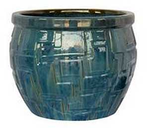BFG Supply, LLC 2725D Michael Carr Designs Round Planter In Ultramarine 8 in