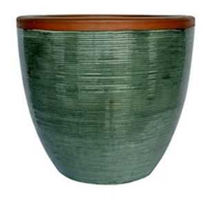 BFG Supply, LLC 2599B Michael Carr Designs Spun Planter In Falling Green 15 in