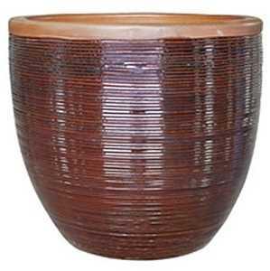 BFG Supply, LLC 2599B Michael Carr Designs Spun Planter In Dark Brown 15 in