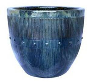 BFG Supply, LLC 2708A Michael Carr Designs Round Planter In Skyfall 20 in