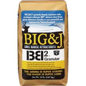 BIG & J INDUSTRIES BB220 Bb2 Granular Long Range Deer Attractant - 20lb Bag