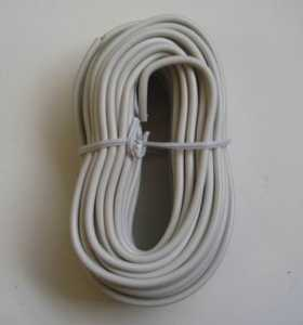 Blackpoint BT-048 WHITE Round Line Wire 50 ft White