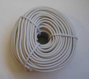Blackpoint BT-049 WHITE 100-Foot White Round Line Wire
