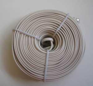 Blackpoint BT-062 WHITE 100-Foot White Modular Line Cord