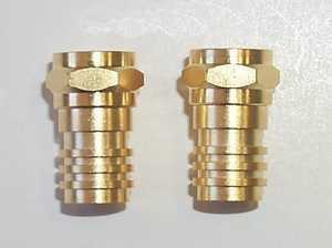 Blackpoint BV-001GOLD 75Ohm F Plug 2-Pack