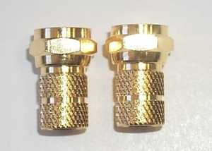 Blackpoint BV-002GOLD Rg-59 Twist-On F Connector 2-Pack