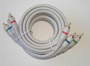 Blackpoint BV-161 WHITE Rgb Component Video Cable 6 ft
