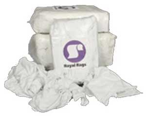 Reclaimed Textiles Company 6339451 Reclaimed White Knit Wiping Cloths 1lb