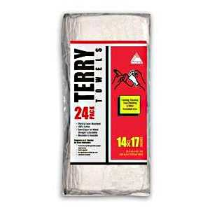 Trimaco 3297546 White Terry Towels 24pack