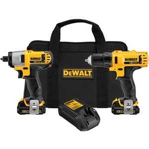 DeWalt DCK211S2 12v Max* Cordless Li-Ion Drill/Driver /Impact Driver Combo Kit