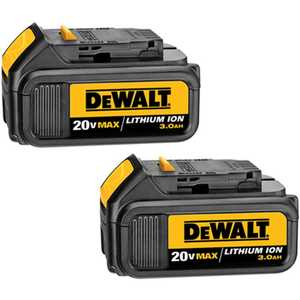 DeWalt DCB200-2 20v Max Lithium Ion Battery Pack (3.0 Ah) - 2 Pack