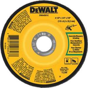 DeWalt DWA4501C 4-1/2 In X 1/4 In X 7/8 In Concrete/Masonry Grinding Wheel