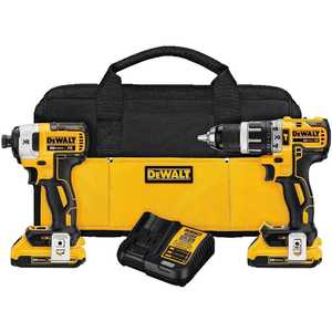 DeWalt DCK287D2 20v Max* Xr Lithium Ion Brushless Compact Hammerdrill And Impact Driver Combo Kit