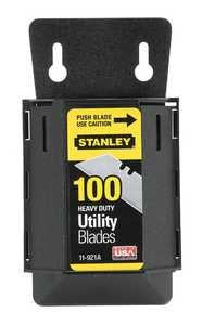 Stanley Tools 11-921A 100-Pack Heavy Duty Utility Blades With Dispenser