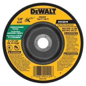 DeWalt DW4429 4 In X 1/4 In X 5/8 In Masonry Grinding
