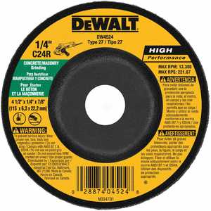 DeWalt DW4524 Masonry Grinding Wheel