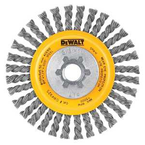 DeWalt DW4930 4 In X 5/8 In -11 Hp .020 Carbon Cable Twist Wire Wheel