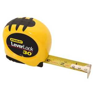 Stanley Tools 30-830 Leverlock Tape Measure 1x30 Ft Yellow