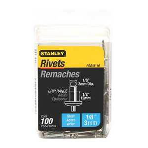 Stanley Tools PSS48-1B Steel Rivet 1/8x1/2 100box
