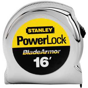Stanley Tools 33-516 Powerlock Tape Measure 1x16 Ft With Blade Armor