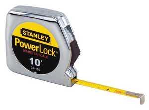 Stanley Tools 33-115 Powerlock Tape Measure 1/4x10 Ft