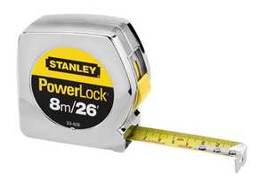 Stanley Tools 33-428 Powerlock Tape Measure 1x26 Ft /8m Cm