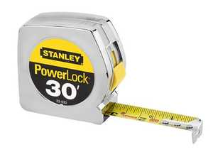 Stanley Tools 33-430 Powerlock Tape Measure 1x30 Ft