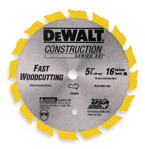 DeWalt DW9055 5-3/8 In 16t Carbide Saw Blade