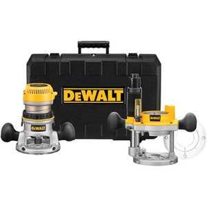 DeWalt DW618PK 2-1/4 Hp Evs Fixed Base /Plunge Router Combo Kit W/Soft Start