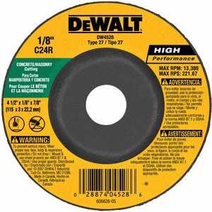 DeWalt DW4528 Masonry Cutting Wheel