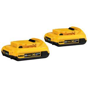DeWalt DCB203-2 20v Max Compact Xr Lithium Ion 2-Pack
