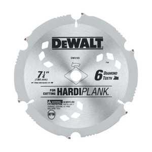 DeWalt DW3193 7-1/4 In 6 Tooth Pcd Diamond Fiber Cement Blade
