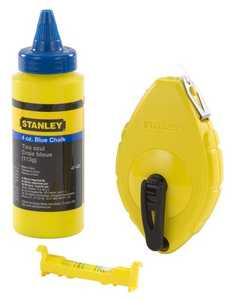 Stanley Tools 47-443 Chalk Reel W/Blue Chalk And Level