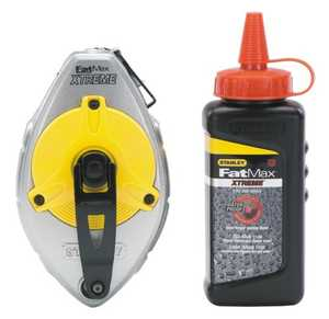 Stanley Tools 47-487L Fatmax Chalk Reel W/Red Chalk Kit