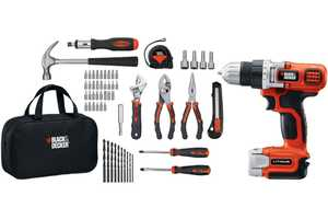 Black and Decker LDX112PK 12v Max* Lithium Drill/Driver + 58 Piece Project Kit