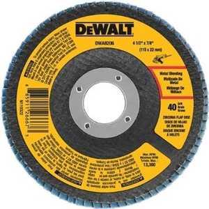DeWalt DWA8206 4-1/2 In X 7/8 In 40 Grit Zirconia T29 Flap Disc