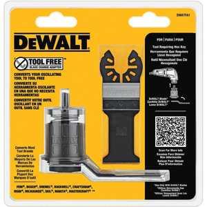 DeWalt DWATFA1 Oscillating Tool-Free Adaptor With 2 Blades