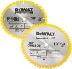 DeWalt DW3106P5 10-Inch Combo Pack Saw Blades